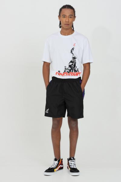 AUSTRALIAN Shorts uomo nero casual Australian con stampa laterale.Molla in vita e modello comodo  Shorts | HCUSH0004003