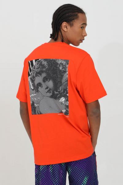 AUSTRALIAN T-shirt uomo lavagna Australian a manica corta con stampa sul retro. Modello comodo tinta unita  T-shirt | HCUTS0008149