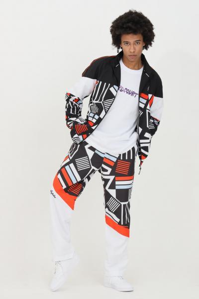 AUSTRALIAN Pantaloni uomo bianco Australian con stampa allover e vita elastica.Pantalone in tessuto smash superleggero. Fodera in rete per una maggio traspirab  Pantaloni | SWDPA0007002