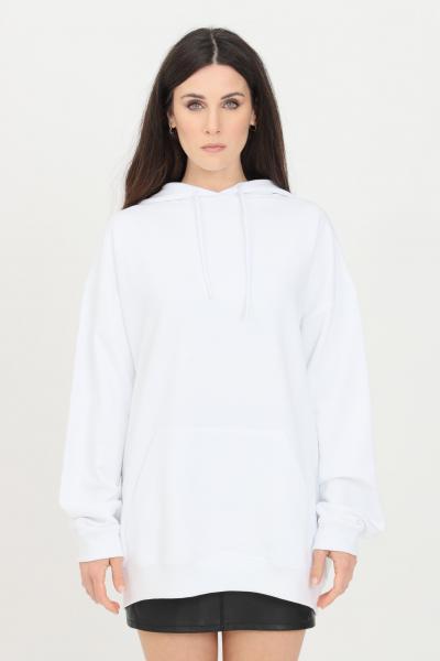 Felpa unisex bianco con cappuccio e lacci  Felpe   BSC1H1BIANCO