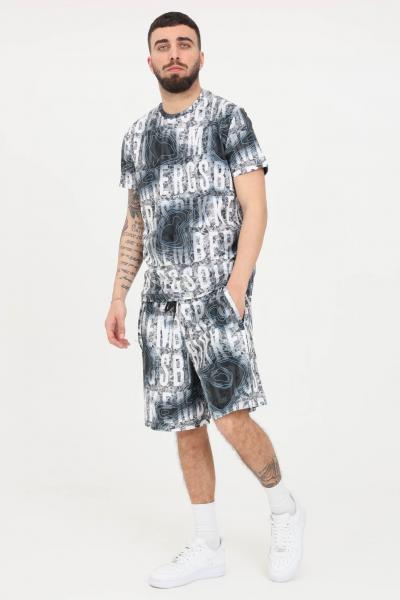 BIKKEMBERGS Shorts uomo fantasia grigio bikkembergs casual con stampa all-over  Shorts   C120700E22510022
