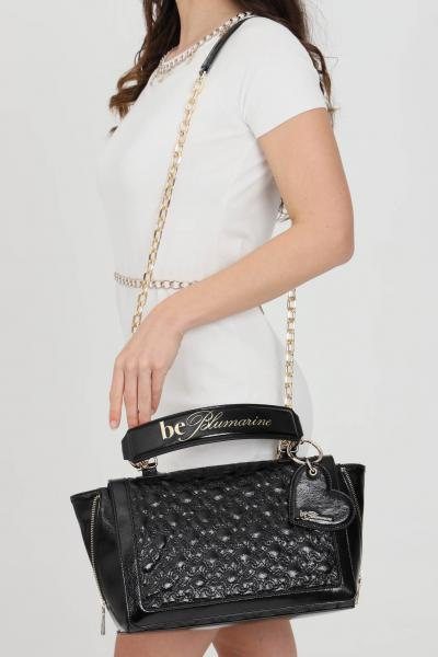 BLUMARINE Borsa donna nera blumarine con tracolla removibile e manici in ecopelle. Chiusura con zip e scomparti interni con zip  Borse | E17WBBB570801899