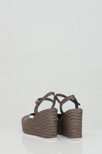 CALVIN KLEIN Party shoes donna tortora calvin klein sandalo con zeppa in tinta unita, chiusura regolabile  scarpe | YW0YW00121GVC