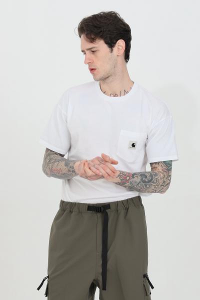 CARHARTT T-shirt donna bianco carhartt a manica corta con taschino frontale  T-shirt | I029070.0302.00