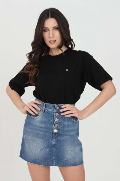 CARHARTT T-shirt donna nero carhartt a manica corta  T-shirt | I029072.0389.90