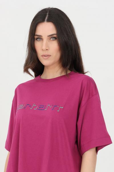 CARHARTT T-shirt donna viola carhartt a manica corta con logo frontale  T-shirt | I029089.030AP.00