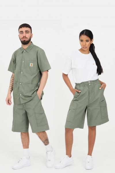 CARHARTT Shorts denver unisex verde carhartt casual a vita alta  Shorts | I029163.03667.06