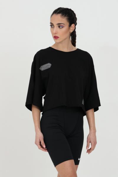 DISCLAIMER T-shirt donna uomo Disclaimer a manica corta con taglio corto e manica over.Maxi stampa sul retro  T-shirt   21EDS50647NERO
