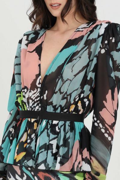 DRAMèE Camicia donna multicolor dramee casual, spalline e stampa fantasy allover  Cardigan | D21020.