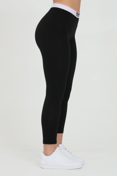 DSQUARED2 Leggings donna nero dsquared2 con molla in vita logata, modello slim  Leggings | D8N473470010