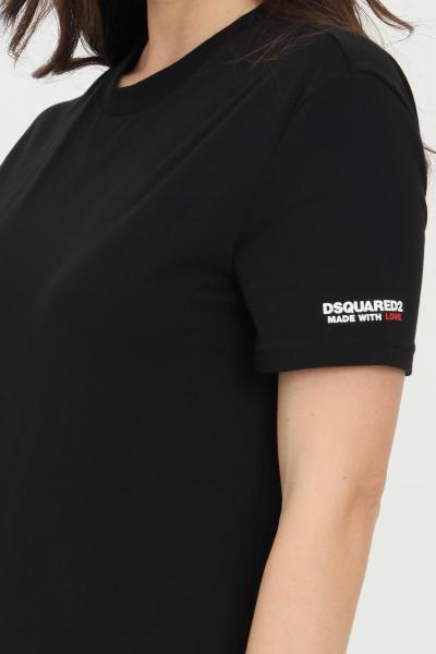 DSQUARED2 T-shirt unisex nero dsquared2 a manica corta con logo sulla manica  T-shirt | D9M203520001
