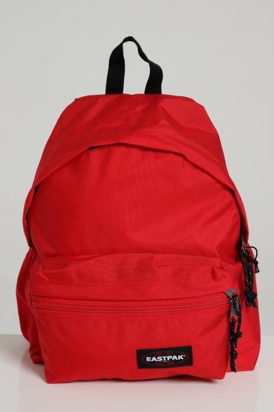 EASTPAK Zaino unisex rosso eastpak in tinta unita con logo a contrasto, chiusura con zip e tracolle regolabili  Zaini | EK0A5B7484ZSAILORRED