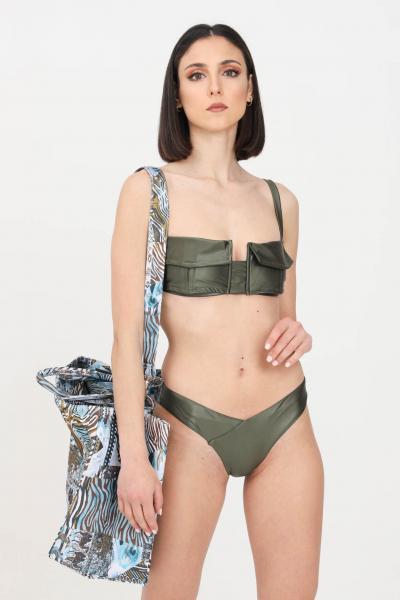 F**K Bikini reggiseno e slip donna verde f**k modello americano  Abbigliamento da spiaggia | F21-0220VM.