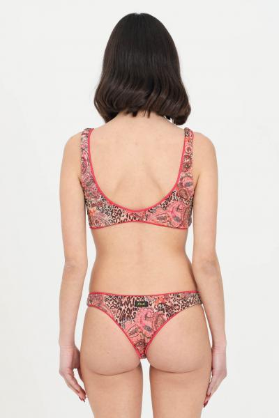 F**K Beachwear costume donna rosa F++K bikini completo reversibile senza chiusure e top a fascia. Stampa fantasy allover  Abbigliamento da spiaggia | F21-0592X1.
