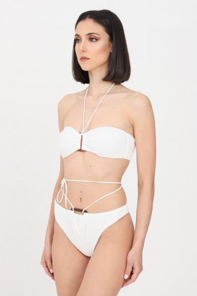 F**K Bikini donna bianco f**k fascia e slip modello brasiliana  Abbigliamento da spiaggia | F21-0721WH.