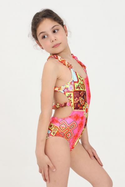 F**K Costume intero bambina f**k con stampa geometrica  Abbigliamento da spiaggia | FJ21-0322X1.
