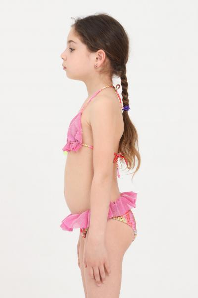 F**K Bikini bambina rosa in lurex f**k  Abbigliamento da spiaggia | FJ21-0360X1.