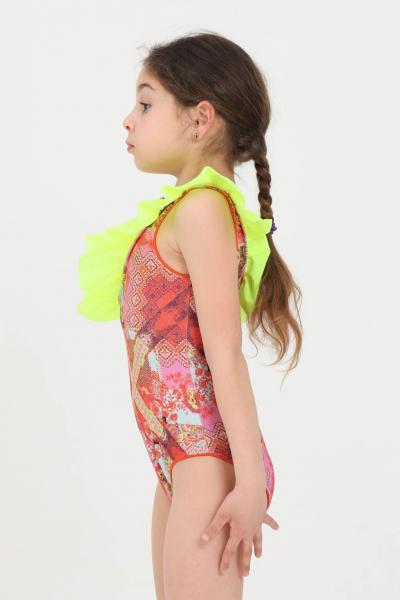F**K Costume intero bambina multicolor f**k con rouches  Abbigliamento da spiaggia | FJ21-0364X1.