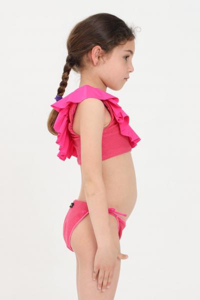F**K Bikini bambina fucsia f**k monospalla  Abbigliamento da spiaggia | FJ21-0501FX.