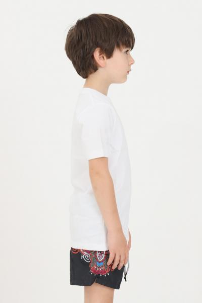 F**K T-shirt bambino unisex bianco f**k a manica corta  T-shirt | FJ21-4109WH.