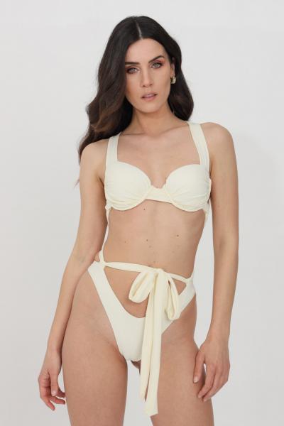 FEMINISTA Beachwear donna panna feminista costume intero  Abbigliamento da spiaggia   DEMETRAPANNA