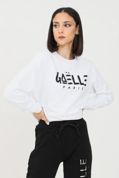 GAELLE Felpa donna bianco gaelle a girocollo con logo sul fronte  Felpe | GBD8290BIANCO