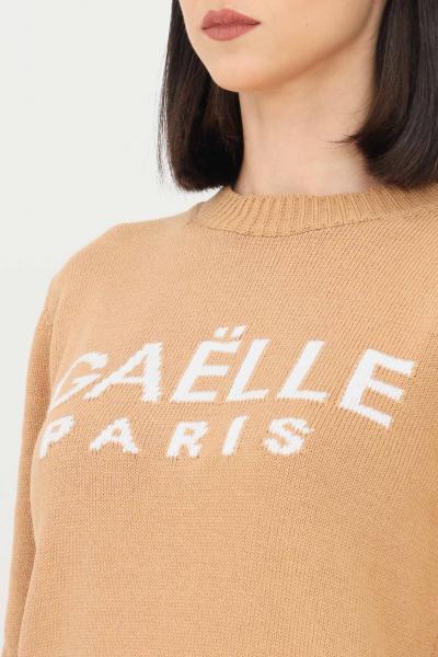 GAELLE Maglioncino donna caffè gaelle con logo sul fronte  T-shirt | GBD8770CAFFÈ