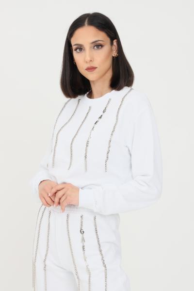 GAELLE Felpa donna bianco gaelle modello girocollo  Felpe | GBD8793BIANCO