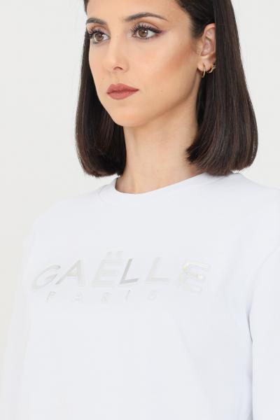 GAELLE Felpa donna bianco con logo in rilievo  Felpe | GBD8810BIANCO