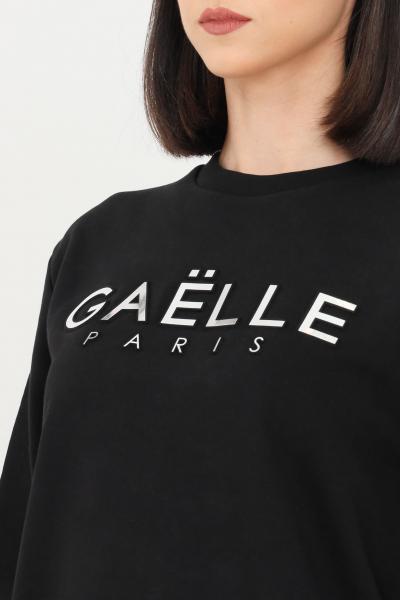 GAELLE Felpa donna nero con logo in rilievo  Felpe | GBD8810NERO