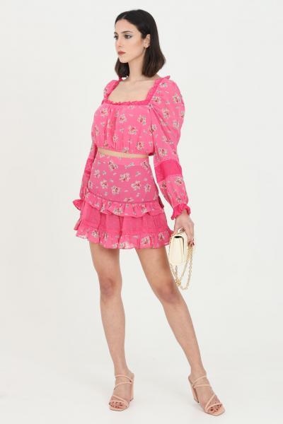 GLAMOROUS Gonna donna rosa Glamorous corta con balze sul fondo.Vita alta, modello stampato con temap flower pattern  Gonne   CK6026PINKFLORAL