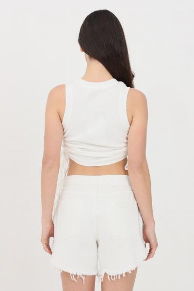 GLAMOROUS Top donna bianco Glamorous casual con arriccio laterale  Top   CK6125WHITE