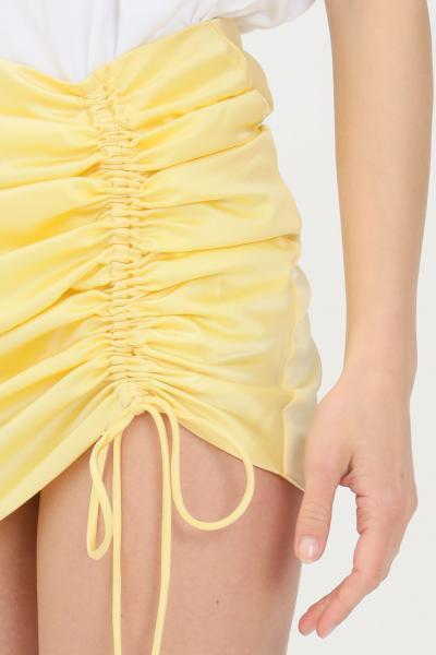 GLAMOROUS Gonna donna giallo glamorus corta con arriccio laterale  Gonne   GC0416PALEYELLOW