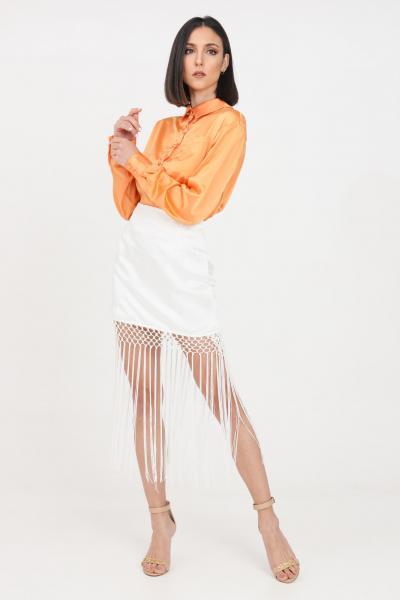 GLAMOROUS Gonna donna bianco glamorous corta con frange  Gonne   GC0419WHITE