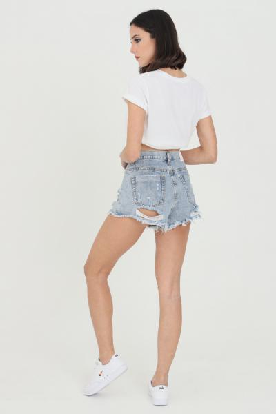 GLAMOROUS Shorts donna in denim Glamorous casual modello corto  Shorts   KA6640LIGHTBLUEWASH