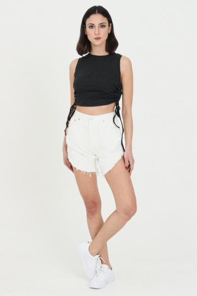 GLAMOROUS Shorts donna bianco Glamorous casual a vita alta  Shorts   KA6744WASHEDBLACK