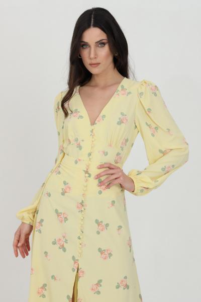 GLAMOROUS Camicia donna giallo Glamorous casual con stampa flower e chiusura con bottoni. Polsini elastici e arriccio sulle spalle  Camicie   KK0192YELLOWPINKROSE