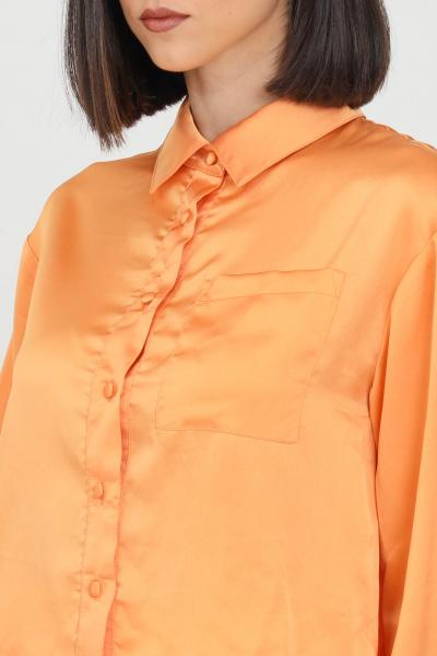 GLAMOROUS Camicia donna arancio glamorous casual in satin  Camicie   TM0327LIGHTORANGE