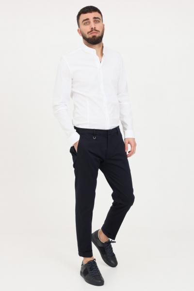 GOLDEN CRAFT Pantaloni uomo blu golden craft elegante taglio classico slim  Pantaloni   GC1PSS215880E044