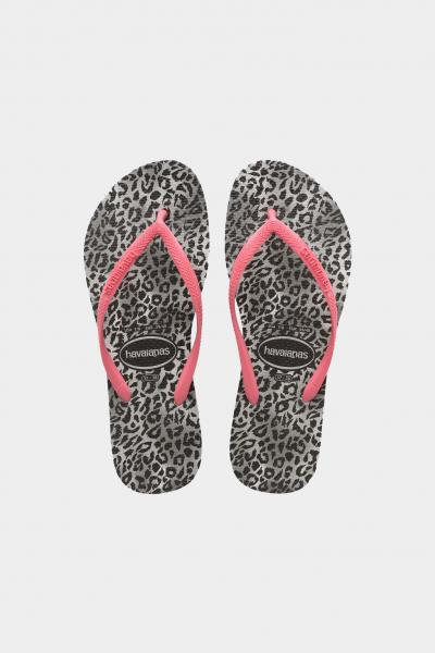 HAVAIANAS Infradito slim leopard fc bambina nero-rosa havaianas  Infradito   4145480.0090.I250090