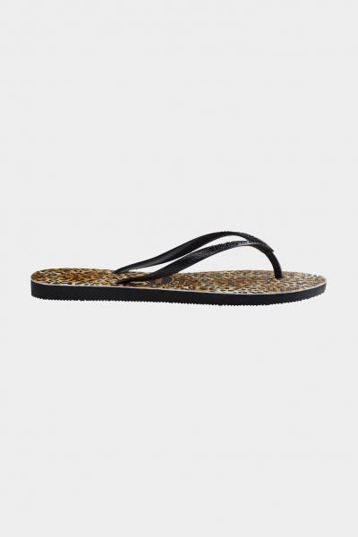 HAVAIANAS Infradito slim leopard fc bambina marrone-nero havaianas  Infradito   4145480.1069.I251069