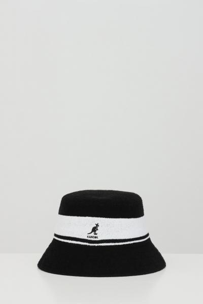 KANGOL Cappello Bermuda Stripe Bucket nero-bianco kangol, modello bucket con banda e logo a contrasto  Cappelli | K3326STBK001