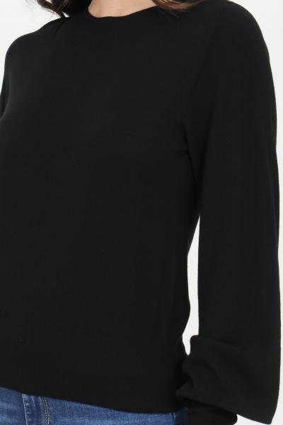 KONTATTO Maglioncino donna nero kontatto a girocollo. Polsini e fondo elastici. Modello comodo  T-shirt | 3M720101