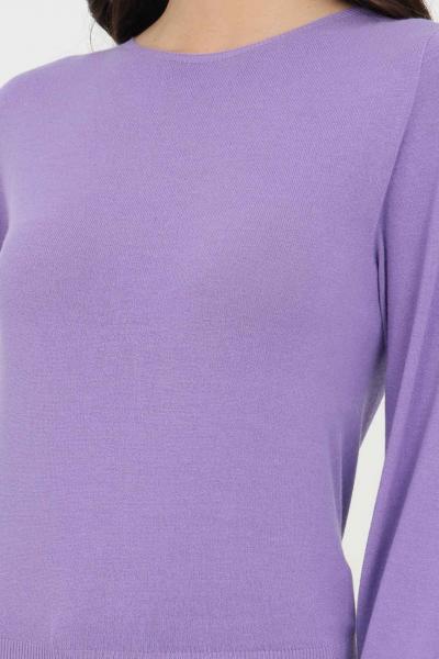 KONTATTO Maglioncino donna lavanda kontatto a girocollo. Polsini e fondo elastici. Modello comodo  T-shirt | 3M7201141