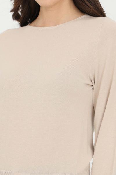 KONTATTO Maglioncino donna sabbia kontatto a girocollo. Polsini e fondo elastici. Modello comodo  T-shirt | 3M720114
