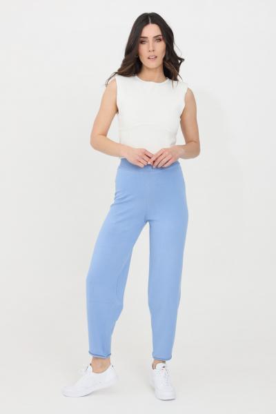 KONTATTO Pantaloni donna azzurro kontatto casual  Pantaloni | 3M7254223