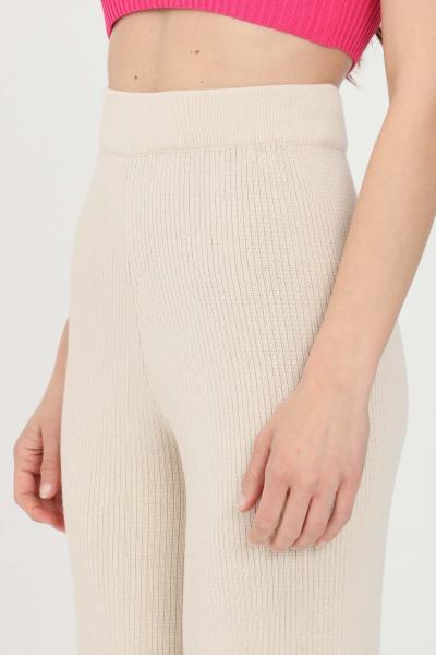 KONTATTO Pantaloni donna sabbia kontatto casual  Pantaloni | 3M726814