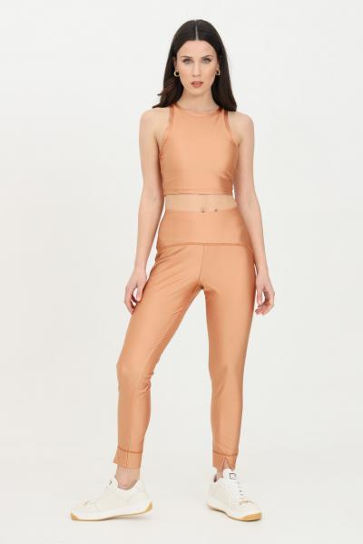 KONTATTO Leggings donna biscotto kontatto modello a vita alta con spacchetti sul fondo. Modello slim  Leggings | B3300117