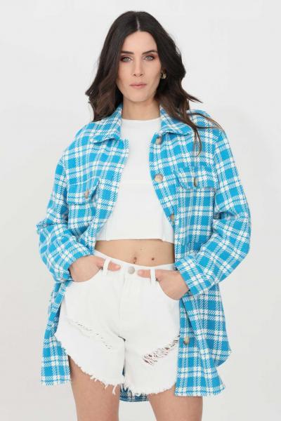 KONTATTO Camicia donna celeste-bianco kontatto casual  Camicie | MU3004V1
