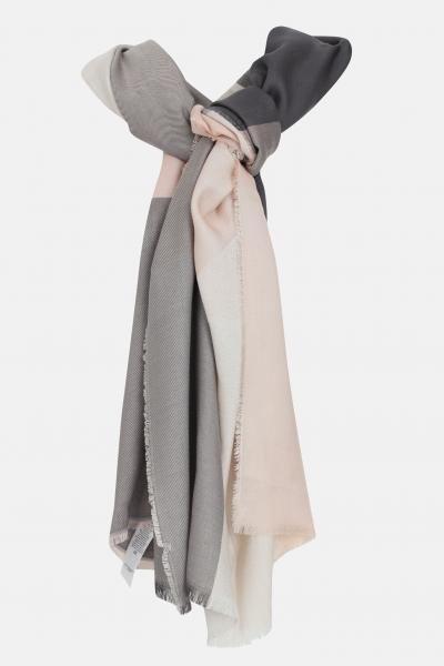 LIU JO Sciarpa stola donna lavanda a quadri liu jo. Orli unfinished e maxi logo jacquard  Sciarpe   2A1027T030022222